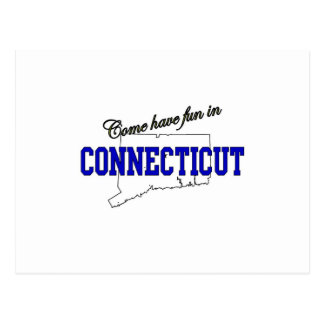 Come Have fun in Connecticut Postcard
