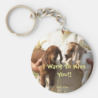 come here I want to lick your face, I Want To K... Key Chains