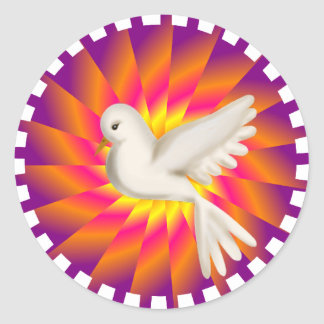 Come Holy Ghost, Creator Blest.... Classic Round Sticker