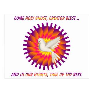 Come Holy Ghost, Creator Blest.... Postcard