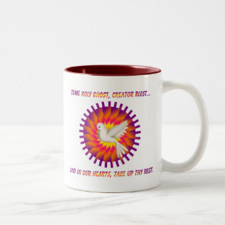 Come Holy Ghost, Creator Blest.... Two-Tone Coffee Mug