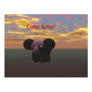 Come home postcard