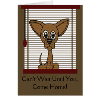 Come Home Soon Puppy Card