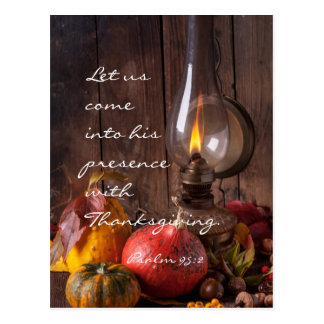 Come into His Presence with Thanksgiving, Psalm 95 Postcard