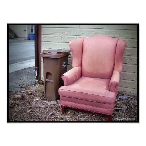 Come into my Parlor - Urban Street Art Pink Chair Poster