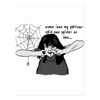 Come into my parlour Spider Baby... Postcard