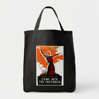 Come Into The Factories Tote Bag