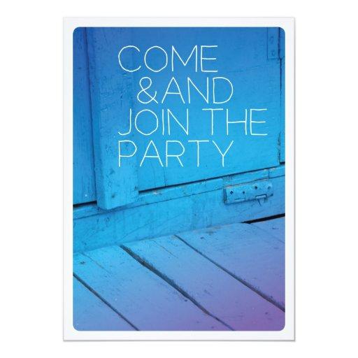 Come join the party celebration invitation