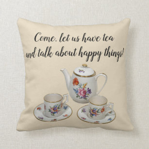 Tea Time Decorative Throw Pillows Zazzle