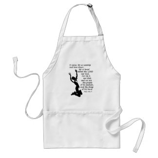 come let us worship and kneel down adult apron