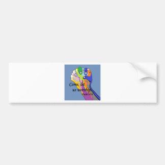 Come, Let Us Worship Bumper Sticker