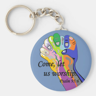 Come, Let Us Worship Keychain