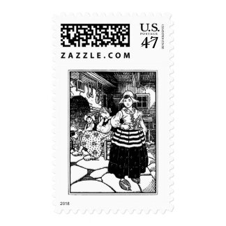 Come Lets to Bed Nursery Rhyme Postage Stamp