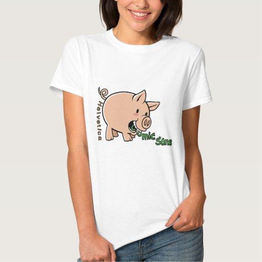 Come los tebeos sin, los impulsos Helvéticas Camisetas