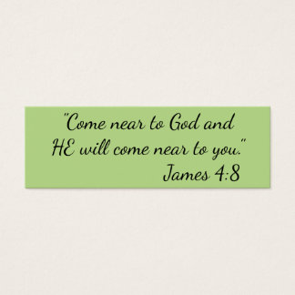 """""""Come Near to God"""" Little Notes Mini Business Card"""
