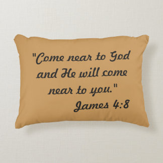 """""""Come Near to God"""" Scripture Accent Pillow"""