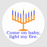 Come On Baby, Light My Fire Round Stickers