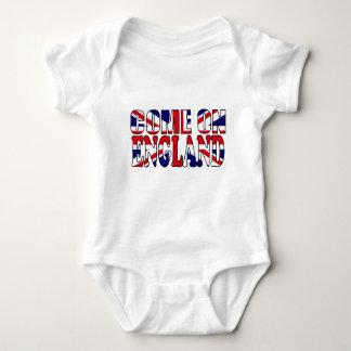 Come on England UK Flag Union Jack baby tshirt