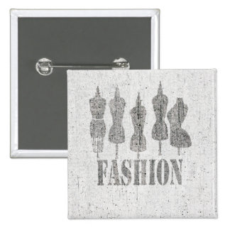 Come on Get Fashionable Vintage Dress Forms Pinback Button