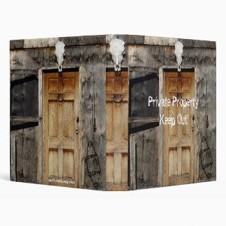 """""""Come On In"""" Rustic Doorway Album 3 Ring Binder"""