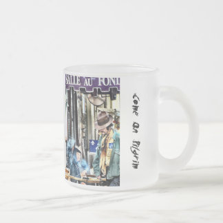 Come On Pilgrim Frosted Glass Coffee Mug