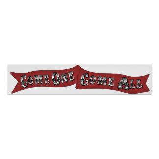 """""""Come One, Come All"""" Circus Carnival Banner Sign"""