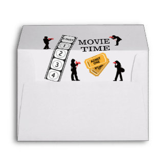 Come One Come All It's Movie Time Envelope