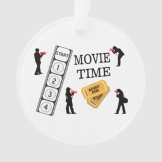 Come One Come All It's Movie Time Ornament