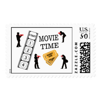 Come One Come All It's Movie Time Postage