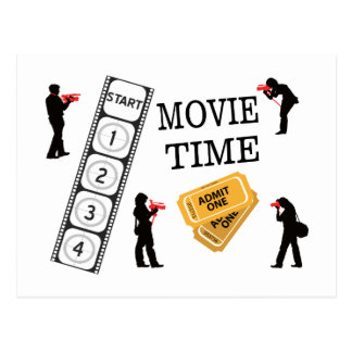 Come One Come All It's Movie Time Post Card