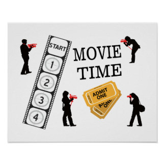 Come One Come All It's Movie Time Poster