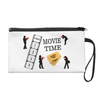 Come One Come All It's Movie Time Wristlet Purse