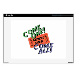 Come One! Come All! Laptop Skins
