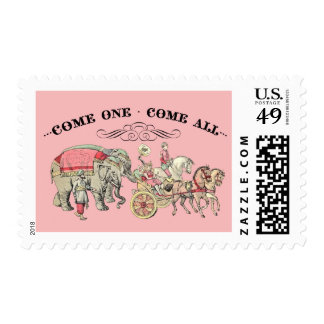Come One Come All (Pink) Stamp by Loralee Lewis