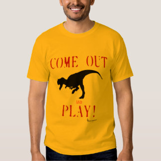 Come Out And Play Allo Primal T-Shirt Gold
