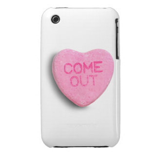 Come Out Candy Heart Case-Mate iPhone 3 Cases