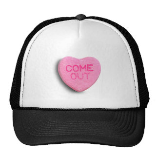 Come Out Candy Heart Mesh Hats