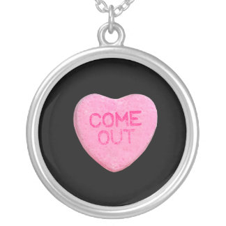Come Out Candy Heart Custom Necklace