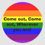 Come out! stickers