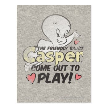 Come Out To Play Postcard by casper at Zazzle