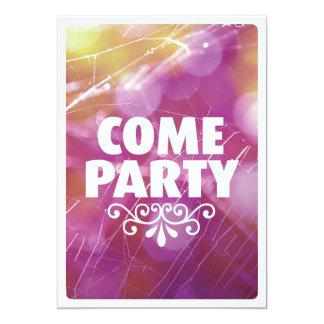 Come party typography celebration invitation