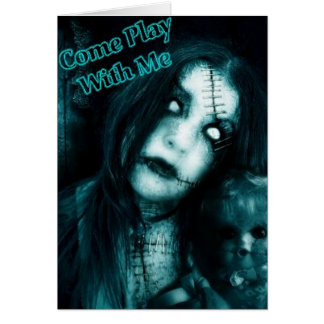 come play with me greeting card