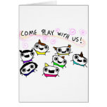"""""""Come play with us"""" Greeting Card"""