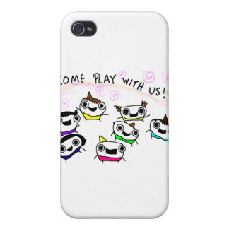 """Come play with us"" Cover For iPhone 4"