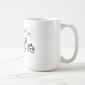 """Come play with us"" Classic White Coffee Mug"