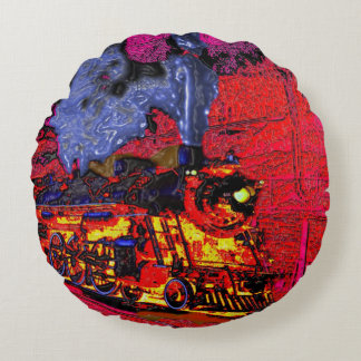 Come Ride the Hellbound Train! Round Pillow