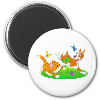 Come Romp with Me Dog and Cat 2 Inch Round Magnet