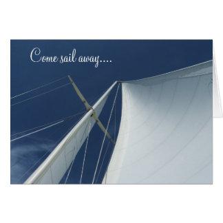 Come sail away card