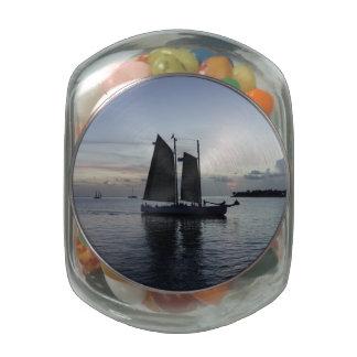 Come Sail Away Glass Candy Jar