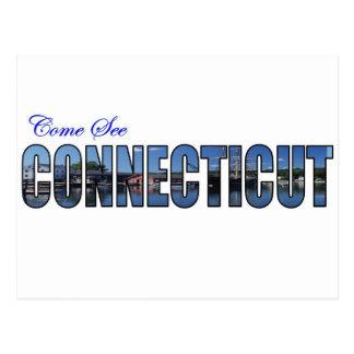 Come See Connecticut Postcard